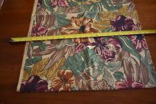 By 1/2 Yd Pink Gold Burgundy Brown Floral on Tan Quilting, Alexander Henry N1698
