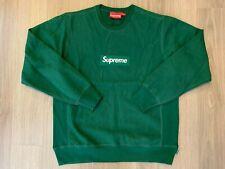 Supreme Box Logo Crewneck Sweater dark green sz M medium