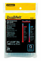 Stanley  0.3 in. Dia. x 4 in. L Mini Glue Sticks  Clear  24 pk