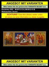 Rumänien 2005 Mi.6013-15 A+B ** Weihnachten,Ikone,Christi Geburt,Jesus Christus