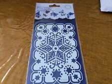 English Embossing Christmas Stencil - 137 x 90mm.  EE 3414. Snowflake ? Stars.