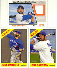JOSE BAUTISTA 2015 HERITAGE ACTION SP, HIGH # SP, & RELIC! FREE SHIP! BLUE JAYS