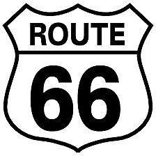 Route 66, Vinyl Decal , Car, Van, Truck, Camper, Wall Sticker, UK Made.