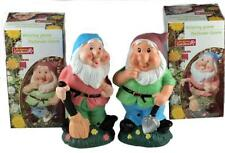 Set Of 2 Whistling Gnomes - Sensor Action - Fun Garden Or Home Ornament