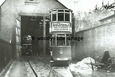 a0355 - Dundee Tram 30 at Depot Shed - photograph