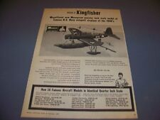VINTAGE..1967 1/48 MONOGRAM HOBBY KITS OS2U-3 KINGFISHER..SALES AD.RARE! (288M)