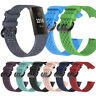 1 PC Breathable Hole Wristband Silicone Watch Band Wrist Strap Fitbit Charge 3