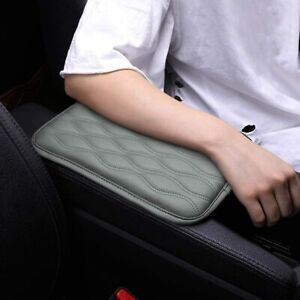 Car Armrest Pad Cover Auto Center Console Box Pu Leather Cushion Mat Gray