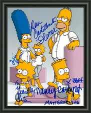 The Simpsons - Cast - A4 SIGNED PHOTO POSTER -  FREE POST