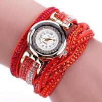 Women Luxury Stainless Steel Crystal Rhinestone Bracelet Quartz Girl Wrist Watch