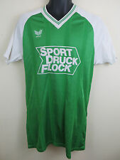 Vtg 80s Erima Football Shirt Trikot Retro Soccer Jersey Maillot Green 7/8 Large