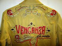 rare embroidery men cowboy shirt size L by VENGANZA free shipping !!!!!!!SAVE!