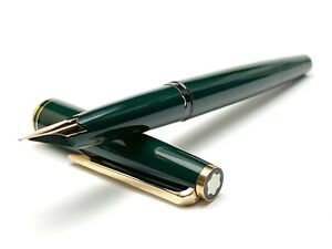 Vintage Montblanc 221 Fountain Pen in Dark Green Color
