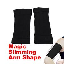 2 Ladies Slimming Arm Shaper 1 Pair Cellulite Fat Burner Weight Loss Wrap Black
