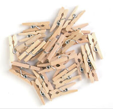 The Craft Factory Mini Wooden Spring Pegs, pack of 30