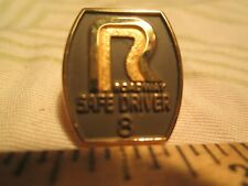 Vtg Roadway 8 Year Trucking Safety Driver Award Driving Screwback nr