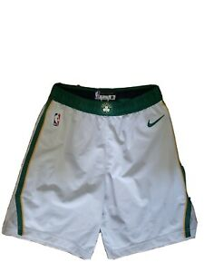 Kyrie Irving Celtics Nike Authentic White-Gold NBA Game Worn Shorts Size 40