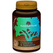 Rainforest Foods, Organic Chlorella & Spirulina, 300 tablets