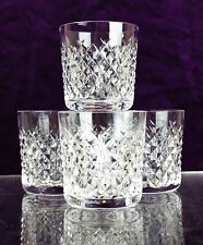 4 Waterford Ireland Cut Lead Crystal ALANA Whisky Tumblers Glass Signed Irish