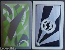 ART DECO GRAPHIC-VINTAGE SWAP PLAYING CARD SINGLES Lot of 2 Silver Gilt