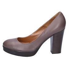 scarpe donna DONNA PIU' 36 decolte' beige pelle BX544-36