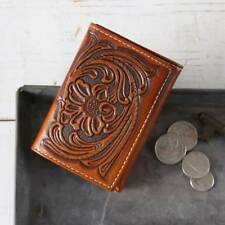 Nocona Trifold Scrolled Wallet Tan