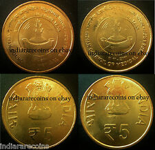 India Mule Lion Variety Medical Research Council C Mint 5 Rs Unc Set NEW 2011