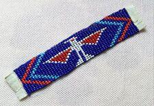 Perlenband min Thunderbird blau 17 Reihen / L Indianer Dekoband Basteln Deko