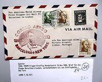 CLIPPER Erstflug 1948 Etappe Barcelona Lissabon New York Spanien First Flight
