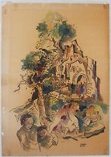 Bela Kadar c.1920 cubist painting Hungarian modernist artist Hungary