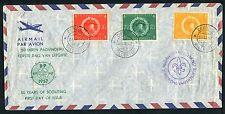 Nederlandse Antillen FDC VOORLOPER V01_07M, (uitgegumd adres) met open klep;