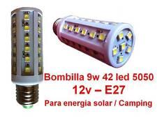 Bombilla Led 9w 12v DC Solar / Camping 42 leds 5050