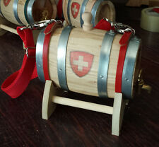 Dogs barrels Collar Saint Bernard wooden Barrel 0,5 Liters  Chestnut cask