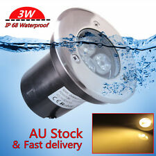 3W LED Waterproof Outdoor In Ground Garden Path Flood Landscape Light Warm White
