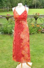 ** Kenzo ** Jungle ** Vintage Long Dress ** Red Pattern ** 40 ** Silk **