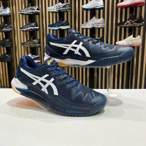 Asics Gel-Resolution 8 Men's Tennis Shoes Blue Racket Racquet NWT 1041A079-403