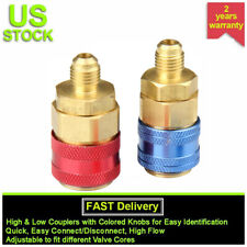 Quick Couplers Connector Refrigerant R134a Car Automobile A/C Adapter Low High