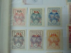 Central Lithuania 1921 full set Plebicite fund for upper silesia imperf MH