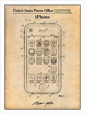 Steve Jobs Apple iPhone Patent Print Art Drawing Poster 18X24