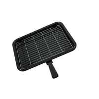 Small Single detachable Handled Enamelled Grill Pan for Flavel Oven Cooker