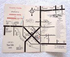 CITY OF TWIN FALLS IDAHO ROGERSON HOTEL w/CARTOON MAP EL RANCHO MOTEL SUN VALLEY