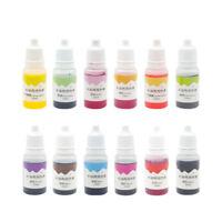 12 Colors Dyes Soap Making Coloring Set Liquid Kit Colorants For DIY Bath Bomb
