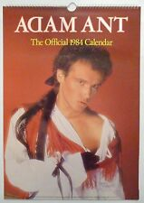 Adam Ant / the Ants Large 1984 Official Calendar