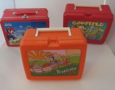 LOT Super Mario Bros Nintendo DS Carrying Case - Tropicana - Garfield Lunchbox