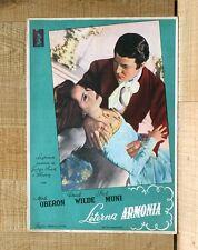 ETERNA ARMONIA poster fotobusta Muni Merle Oberon Chopin A Song to Remember F98