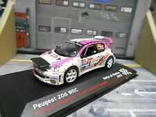 PEUGEOT 206 WRC Rallye Madeira #4 Delecour Bonelle Nightversion IXO Alt 1:43