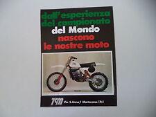 advertising Pubblicità 1979 MOTO TGM 125 C CROSS