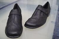 ARA Damen Comfort Schuhe Slipper Mokassin Leder m Einlagen schwarz Gr.4 G 37 NEU