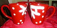 TARGET HOLIDAY 2007 RED SNOWFLAKE CHRISTMAS COFFEE CUP MUG SET OF 8