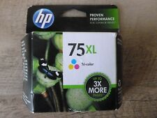HP 75XL Tri-Color Ink CB338WN New Genuine 3X More!!!! - Sealed - Free Shpg!